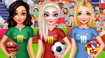 Bff Princesses Vote for Football 2018 - online game | Mahee.com