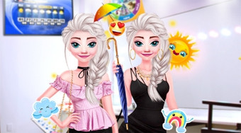 Elsa Weather Girl Fashion - online game | Mahee.com