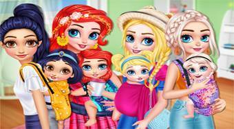 Princesses Baby Wearing Fun | Free online game | Mahee.com