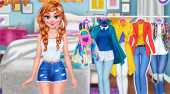Princesses: Colorful Outfits