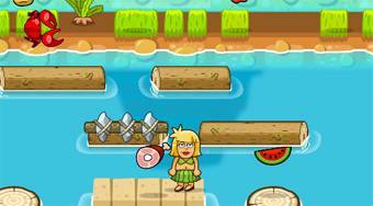 Adam and Eve Crossy River - online game | Mahee.com